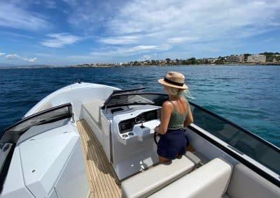 sportboot met open punt