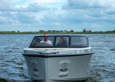 grijze boot voorkant
